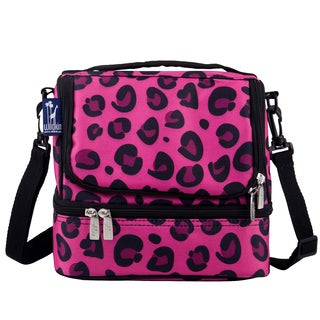 Wildkin Pink Leopard Double Decker Lunch Bag