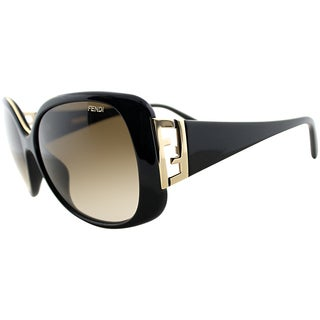 Fendi Women's FS 5290 001 Black/ Gold Fashion Sunglasses