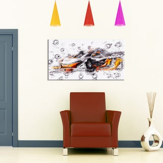 Black and Orange Exotic Car' Gallery-wrapped Canvas