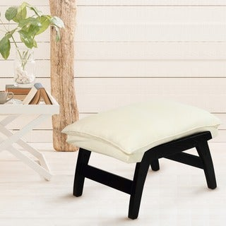 Solid Wood Casual Folding Ottoman