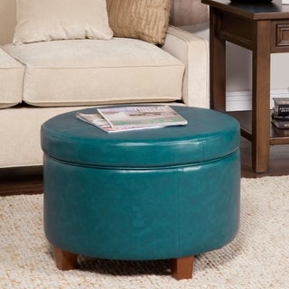 Porch & Den Rockwell Large Leatherette Storage Ottoman
