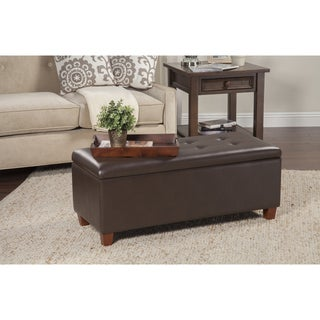 HomePop Chocolate Brown Large Storage Bench