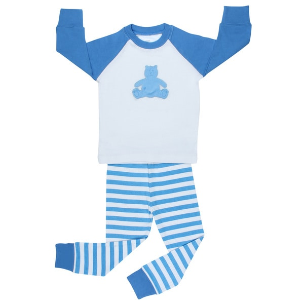 Elowel Boys Teddy Bear 2-piece Pajama Set