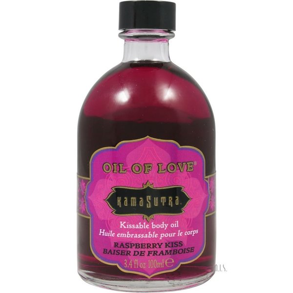 Kama Sutra 3.4-ounce Oil of Love Raspberry Kiss