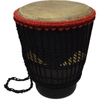 Hand-crafted Big Bang Short Bongo Drum (Ghana)