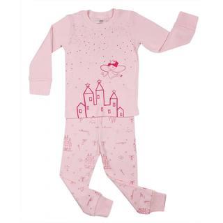 Elowel Girls' Castle 2-piece Pajama Set