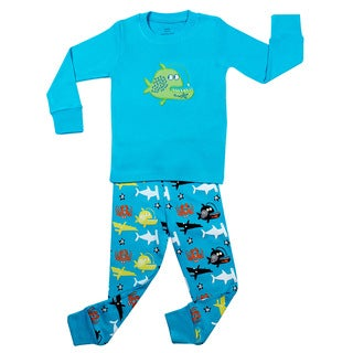 Elowel Boys' Whale Fish 2-piece Pajama Set