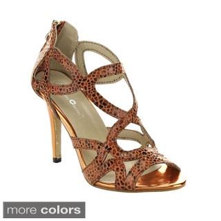 Queen Chateau VALENTINE-2 Snake Upper Stiletto Heels
