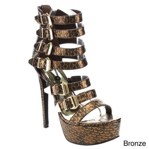 Queen Chateau MOLLY-2 Women's Strappy Platform Stiletto Heels