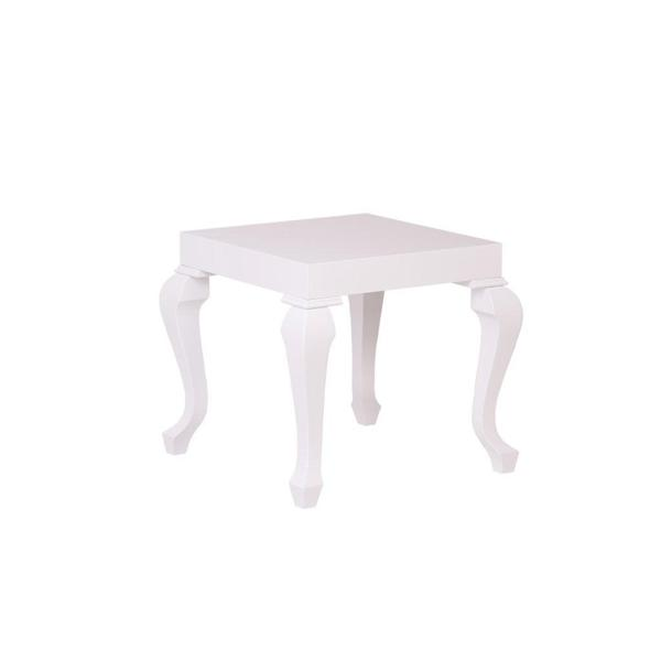 Lukens White Lacquer Contemporary Side Table