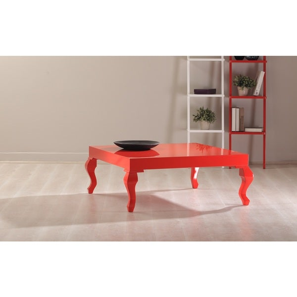 Lukens Red Lacquer Contemporary Coffee Table