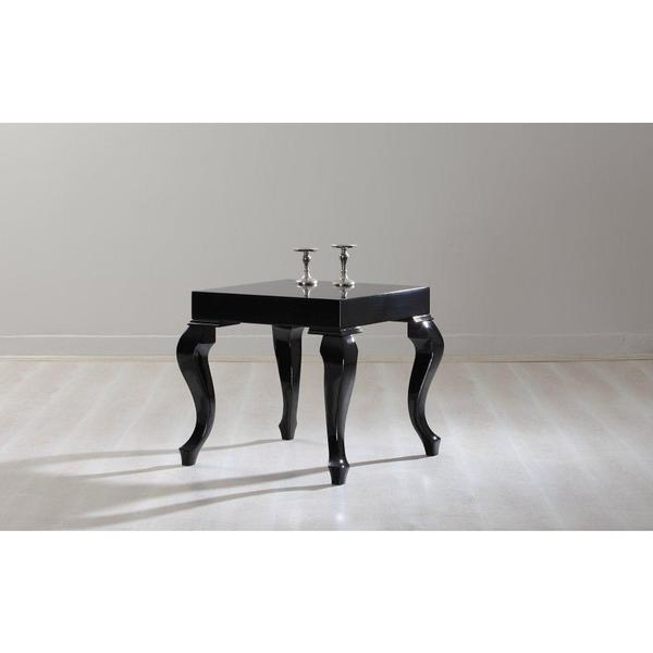 Lukens Black Lacquer Contemporary Side Table
