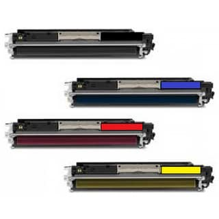 CE310A Set: Black, Cyan, Yellow, Magenta Replacement Toner for HP
