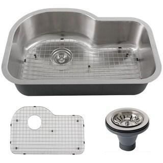 Phoenix L8-GRID-DEL 32-inch Stainless Steel 18-gauge Undermount Single Bowl Kitchen Sink