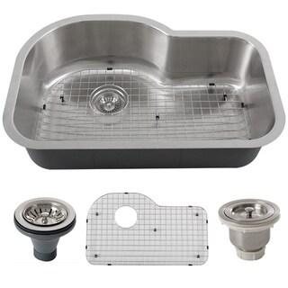 Phoenix L8-GRID-BASK-DEL 32-inch Stainless Steel 18-gauge Undermount Single Bowl Kitchen Sink