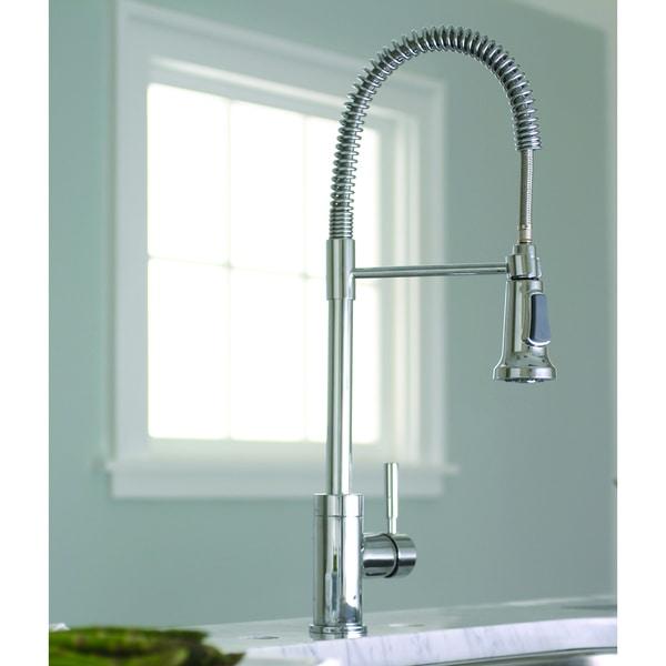 Premier Essen Lead-free Single-handle Commercial-Style Pull-down Chrome Kitchen Faucet
