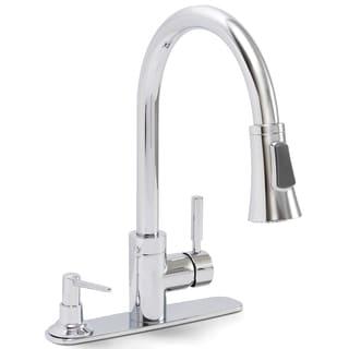 Premier Essen Lead-free Single-handle Pull-down Chrome Kitchen Faucet with Soap Dispenser
