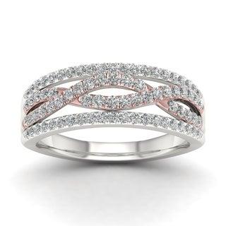 De Couer 10k Two-tone Gold 1/2ct TDW Diamond Vintage Ring (H-I, I1-I2)