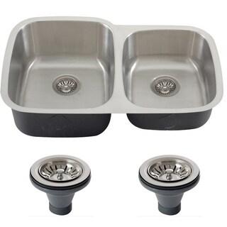 Phoenix 32-inch Stainless Steel 18-gauge Undermount Double Bowl Kitchen Sink