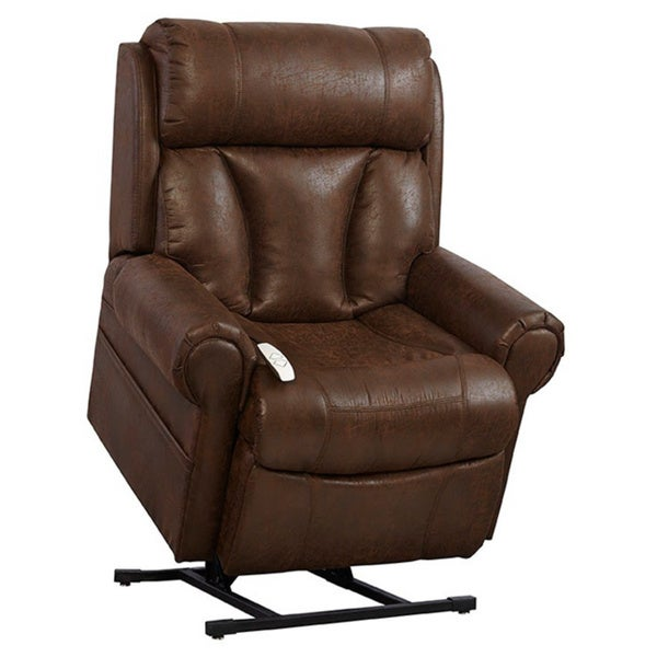 Mega Motion Upholstered Brown Lift Chair - Overstock Shopping - Great ...
