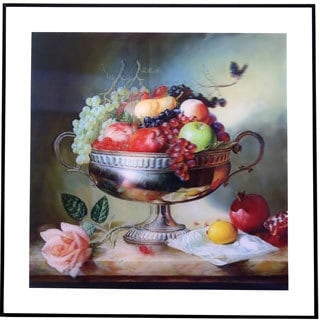 3D Fruit Bowl Picture With Aluminum Frame