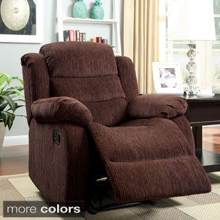 Furniture of America Aurese Chenille Recliner