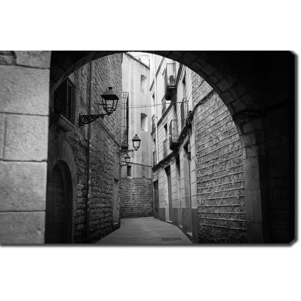 Old Town, Barcelona' Photography Canvas Art