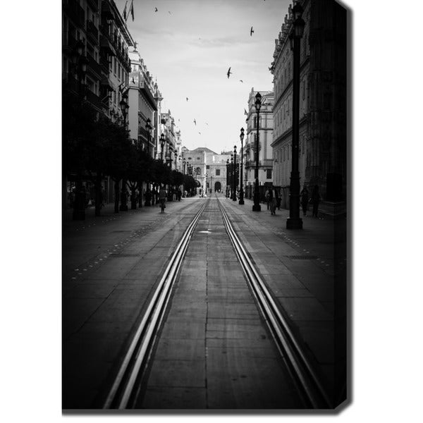 Street View of Seville, Spain' Photography Canvas Art