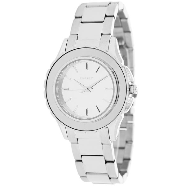DKNY Women's NY2115 Broadway Round Silver-Tone Bracelet Watch