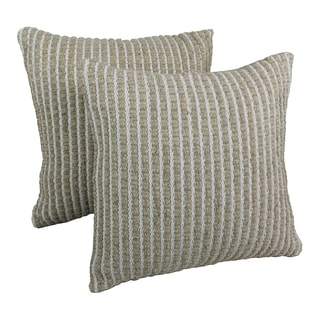 Blazing Needles 20-inch Woven Look Rope Corded Pillows (Set of 2)