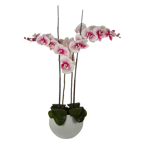 Artificial Phalaenopsis Orchid/ Bamboo Floral Arrangement