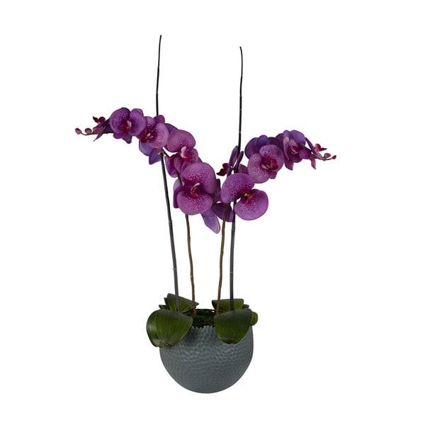 Lavendar/ Orchid/ Bamboo Artificial Floral Arrangement