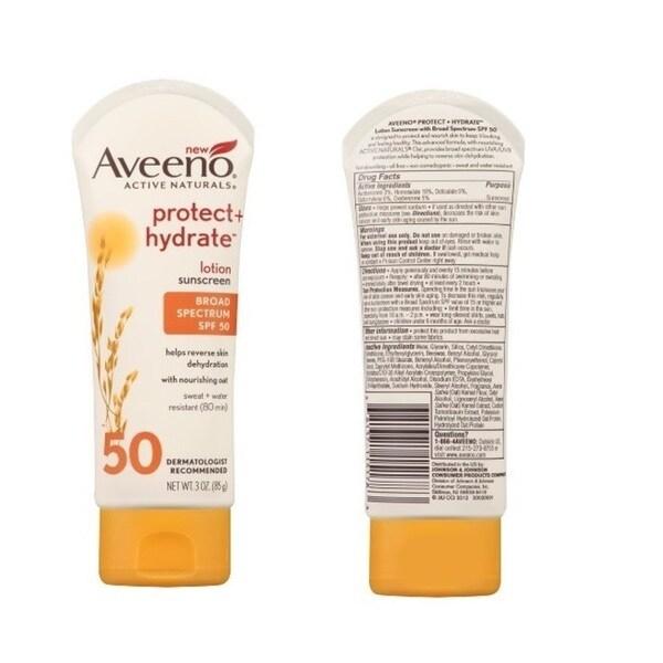 Aveeno SPF 50 Natural Protection 3-ounce Sunscreen Lotion