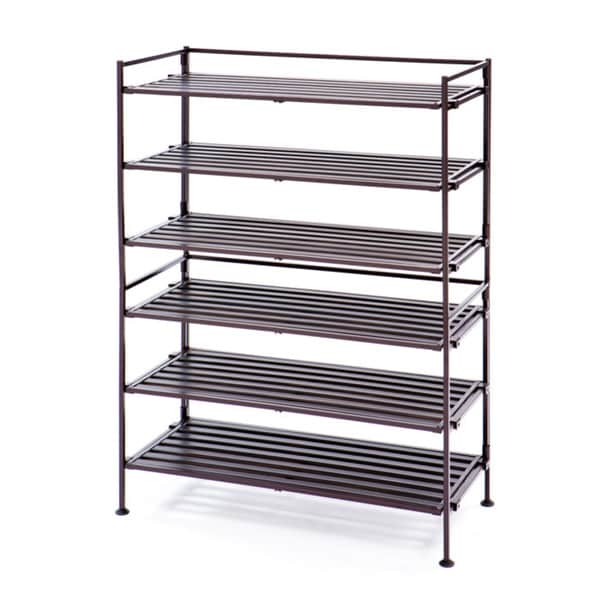 Seville 3-Tier Resin Wood Composite Shoe Rack (2-Pack)