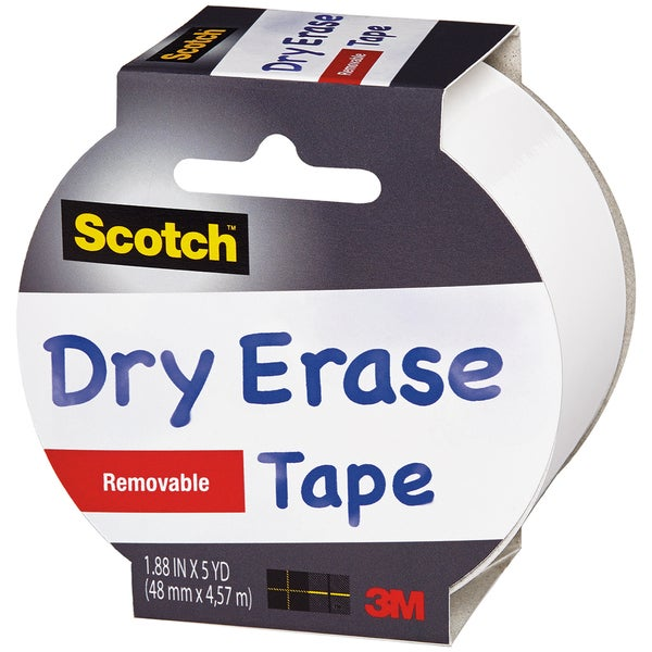"Scotch (TM) Dry Erase Tape 1.88""X5yd-White"