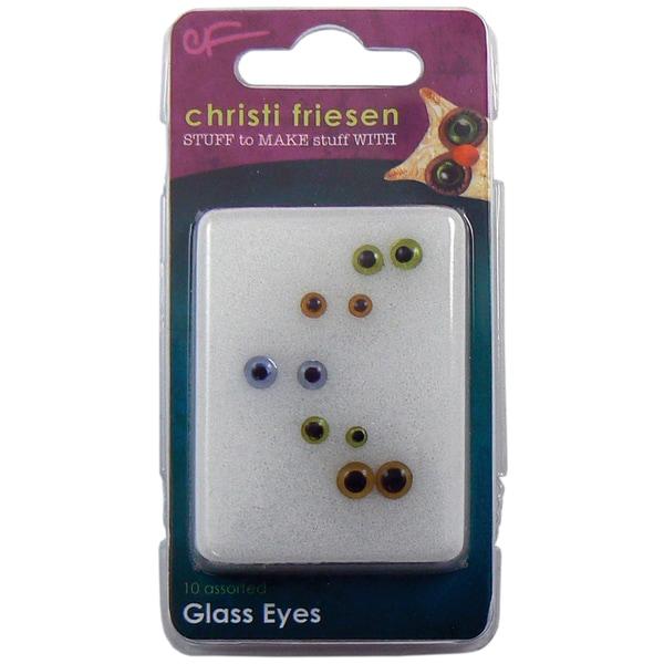 Christi Friesen Glass Eyes 10/Pkg-Multi