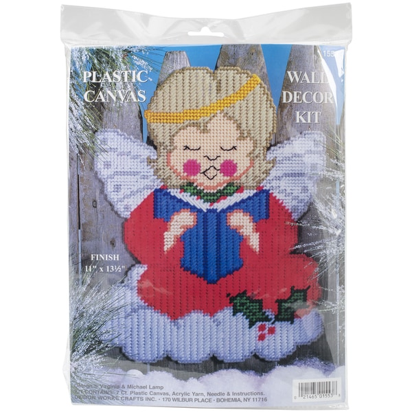 "Christmas Angel Wall Decor Plastic Canvas Kit-13.5""X11"" 7 Count"
