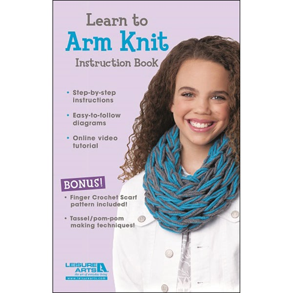 Leisure Arts-Learn To Arm Knit For Kids Kit