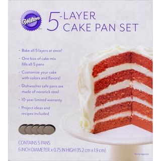 "Easy Layers! Cake Pan Set 5/Pkg-6"""
