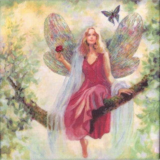 """Summer Tree Fairy Embellished Counted Cross Stitch Kit-12""""X12"""" 14 Count"""