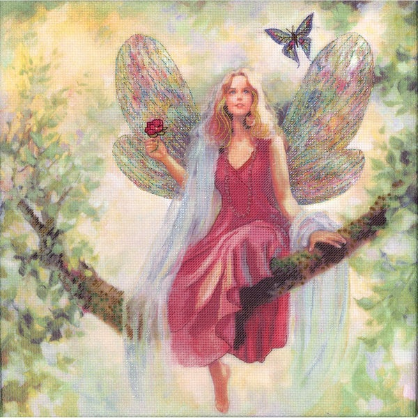 "Summer Tree Fairy Embellished Counted Cross Stitch Kit-12""X12"" 14 Count"