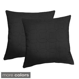 EDIE Microfiber Sonic Quilted Honeycomb 20-inch Throw Pillow (Set of 2)