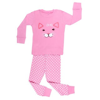 Elowel Cat Face 2-piece Pajama Set