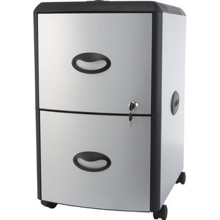 Two Drawer Metal/ Plastic File Cabinet