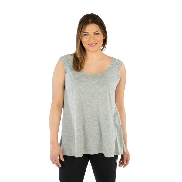Live Life Large Women's Plus Size Reversible Tank