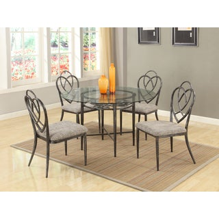 Somette Lexis Clear Glass Dining Table