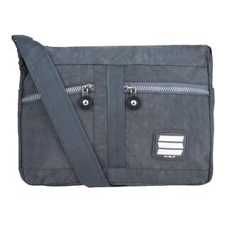 Suvelle Crinkled Nylon Water-resistant Shoulder Bag