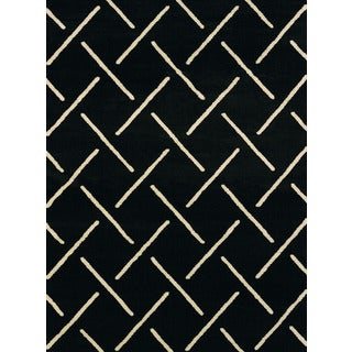 Visions Taylor Black Multi-texture Area Rug (7'10 x 10'6)