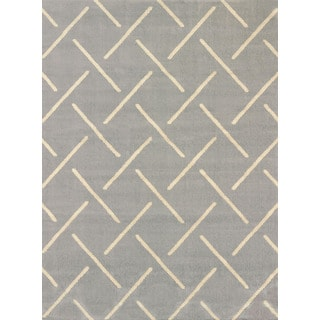 Visions Bernadette Grey Multi-texture Area Rug (7'10 x 10'6)