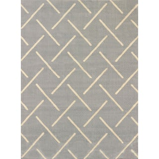 Effects Bernadette Grey Multi-texture Area Rug (7'10 x 10'6)